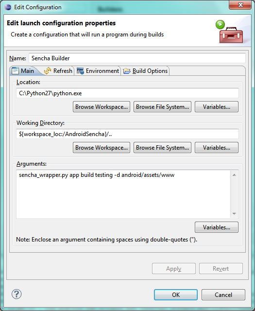 Sencha builder in Eclipse (1)