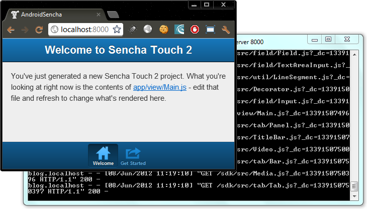 Sencha Touch app in Chrome